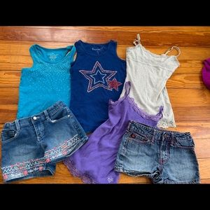 Girls short and tank sets size 6/7